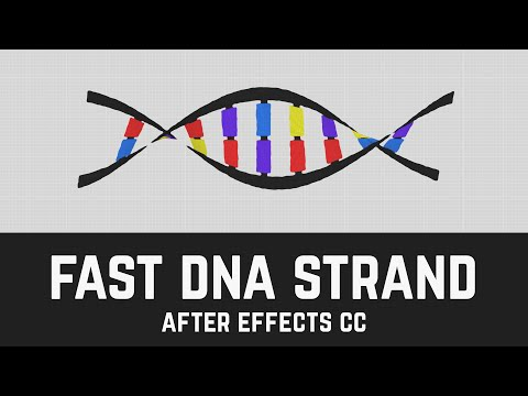T016 Super Quick DNA Strand in After Effects CC (DNA Tutorial)
