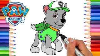 How to Draw Paw Patrol Rocky | Coloring Pages for Kids | Learn to Draw