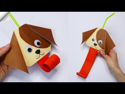 Funny DOG Moving paper TOYS  Easy paper crafts