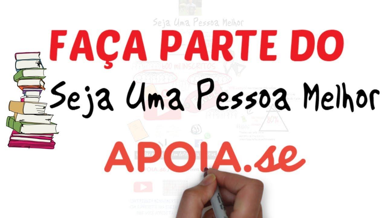 Faça parte do SEJA UMA PESSOA MELHOR | APOIA-SE