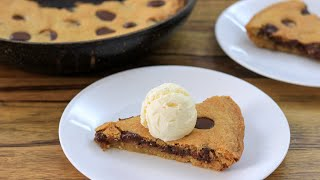 Skillet Chocolate Chip Cookie Recipe  Giant Chocolate Chip Cookie