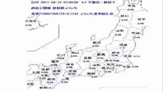 2011/5/21東京都、全国放射能測定値 by 美食源(めしえん)