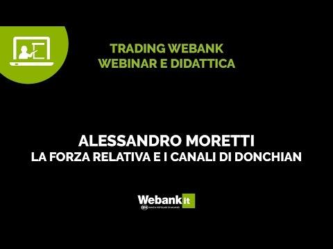 Alessandro Moretti, la forza relativa e il canale di Donchian - Webinar Webank