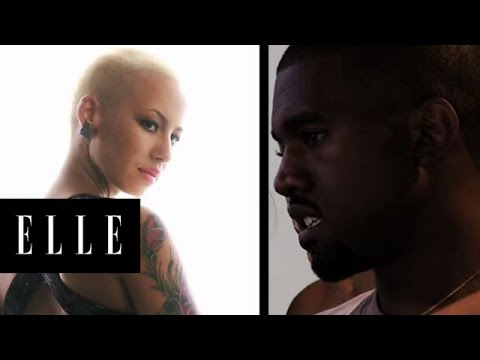 Kanye West and Amber Rose | Behind the Scenes | ELLE