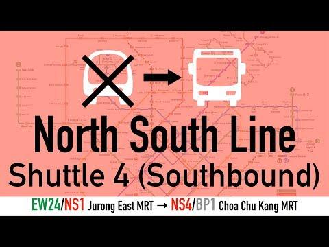 North South Line Shuttle 4 Hyperlapse: EW24/NS1 Jurong East to NS4/BP1 Choa Chu Kang