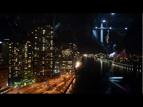 Roosevelt Island to Manhattan by Cable Car at Night