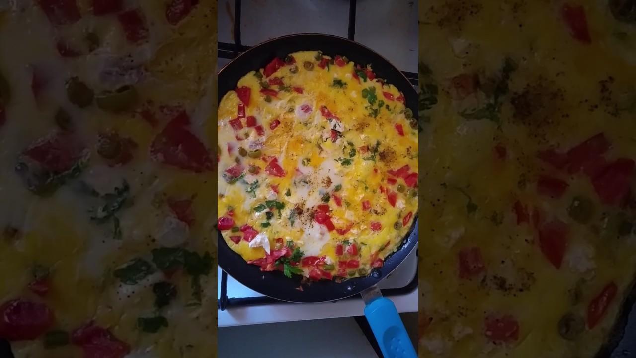 Krepte Peynirli ve Biberli Yumurta