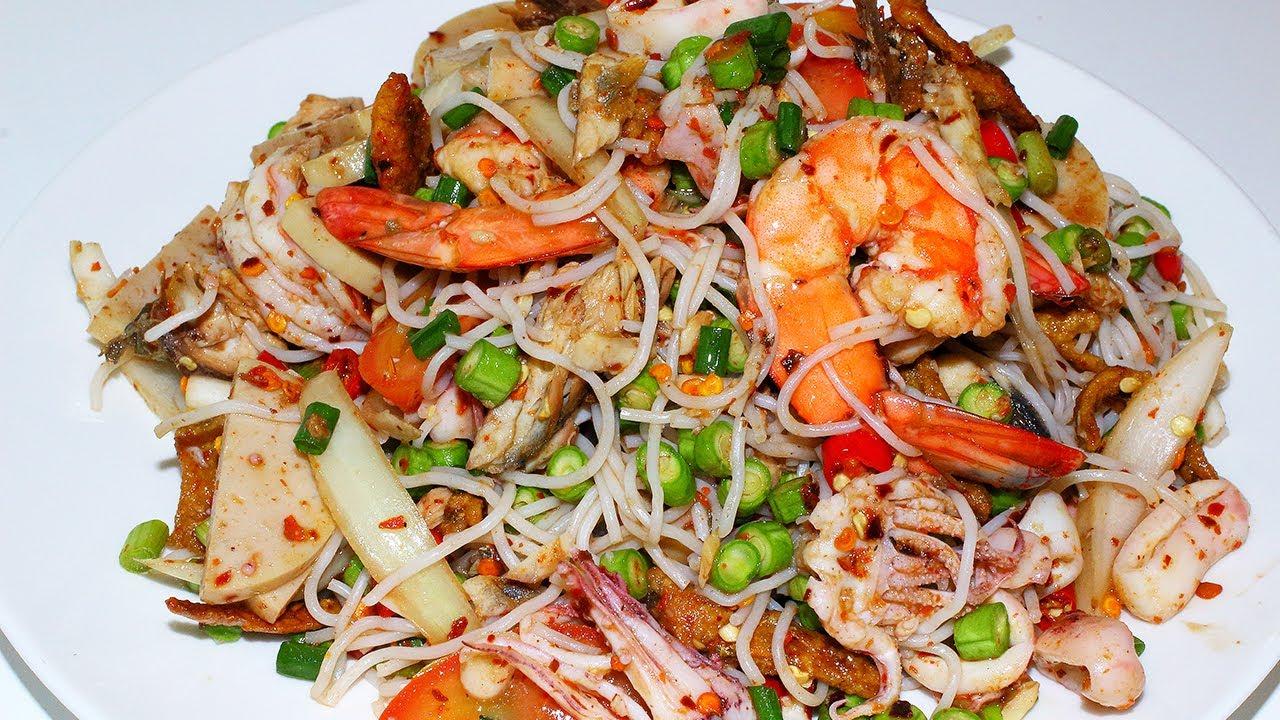 ยำขนมจีน ยำขนมจีนปลาทู ยำทะเล สูตรยำสอนทำอาหาร สูตรอาหาร ทำกินเองง่ายๆ -  YouTube