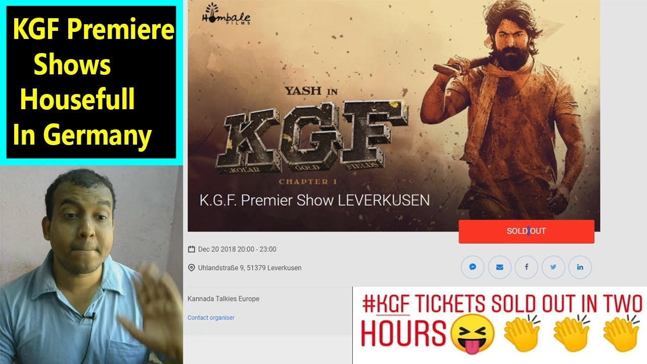 Kgf Premiere Tickets Sold Out In Germany In 2 Hours I Craze Of