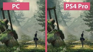 4K UHD NieR Automata PC vs. PS4 Pro 4K Mode Graphics Comparison