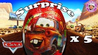 Überraschungseier von Disney Cars - Surprise Eggs Ü-Eier Kinderüberraschung