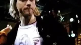 KURT COBAIN WEARING WENDY JAMES TRANSVISION VAMP TSHIRT AT MTV LIVE PERFORMANCE