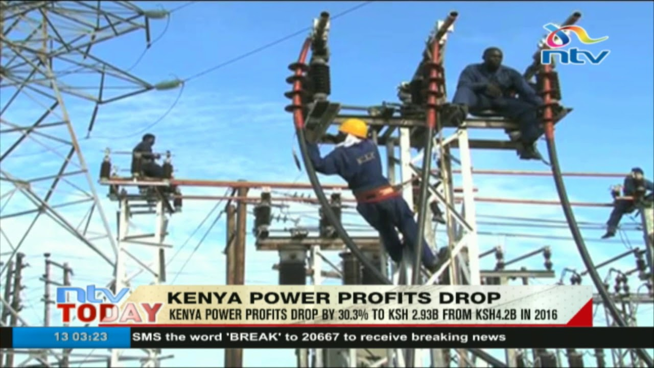 Kenya Powe profits drop