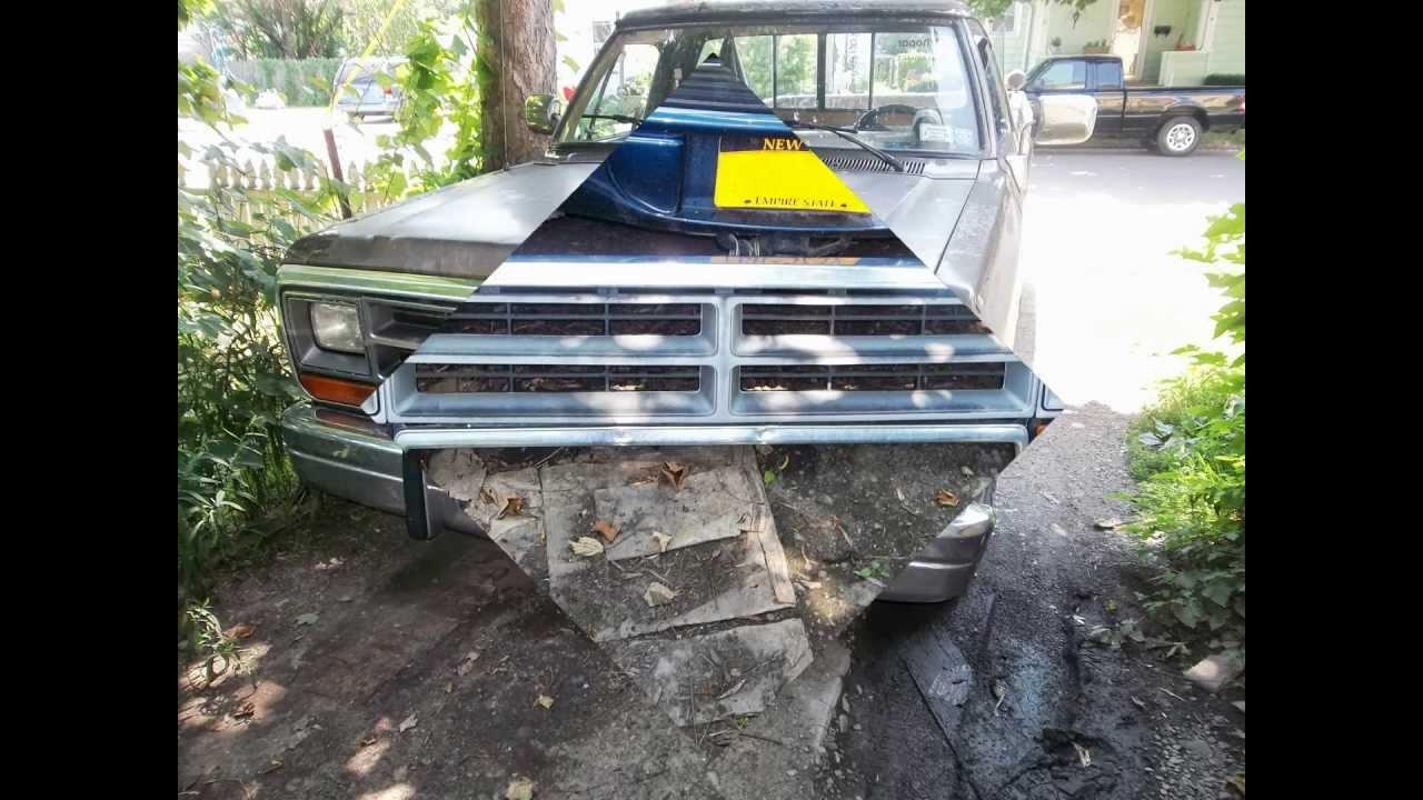 89 Dodge D150 Grille Swap