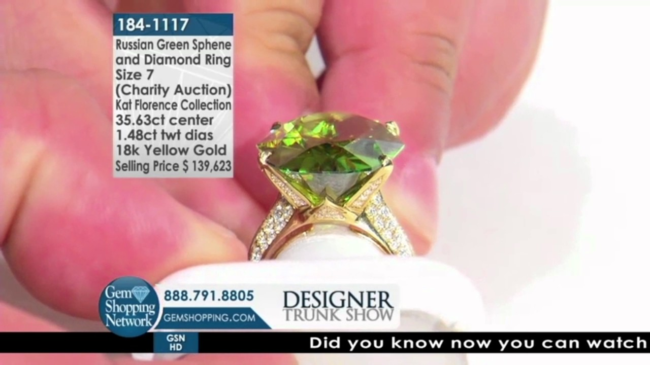 Largest Russian Green Sphene Seen on Gem Shopping Network - YouTube