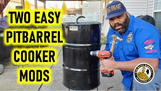 Two Easy Pit Barrel Cooker Mods - - No Tools Required!