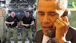 Space Station Crew Talks With U.S. President Obama | Video
