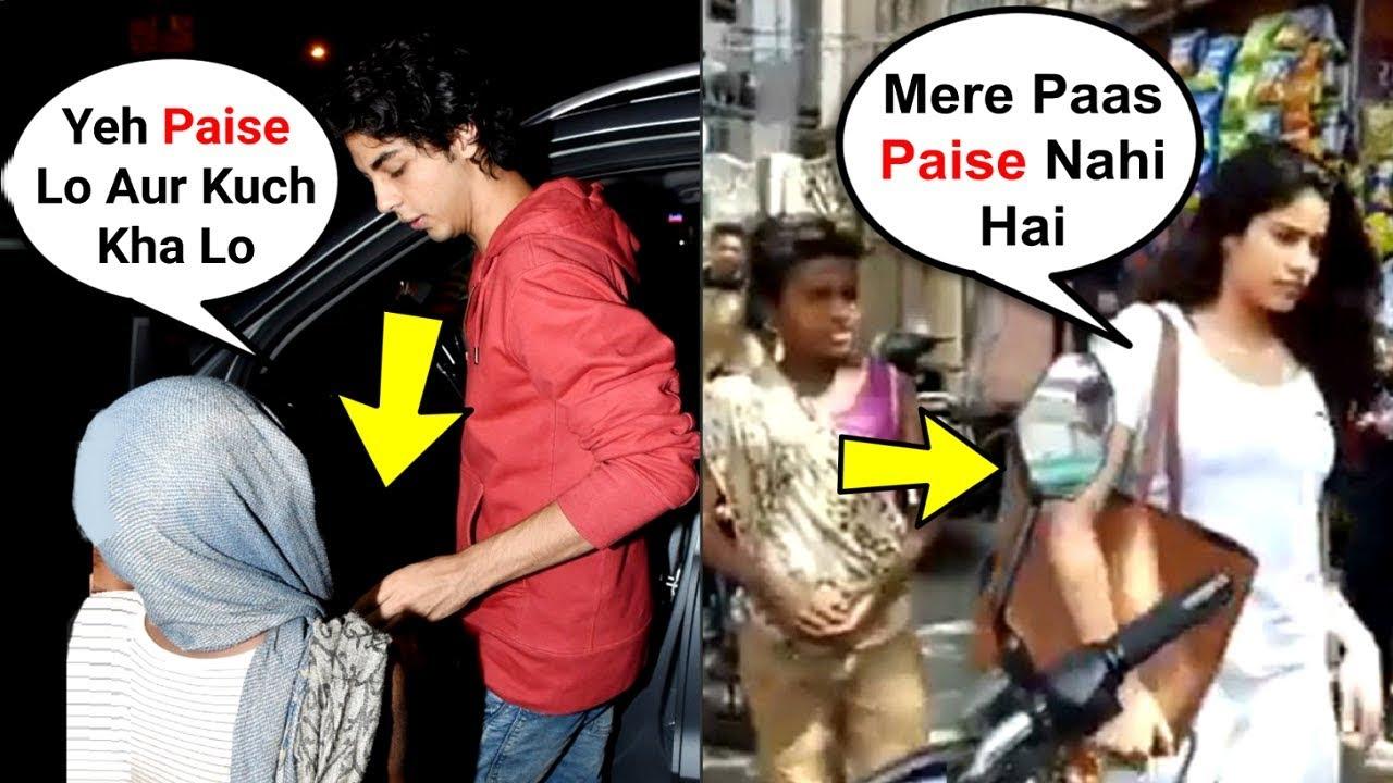 What Bollywood Star Kids Do When BEGGARS Ask For Money - Aryan Khan, Jhanvi Kapoor, Sara Ali Khan