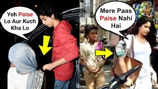 What Bollywood Star Kids Do When BEGGARS Ask For Money - Aryan Khan, Jhanvi Kapoor, Sara Ali Khan