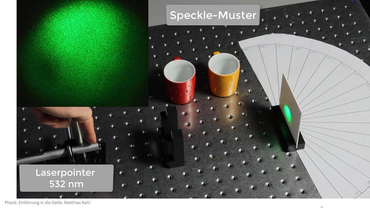 Laser Speckle durch kohärente Strahlen, Physik Optik Experiment