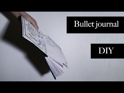 How to make a book/bullet journal //DIY