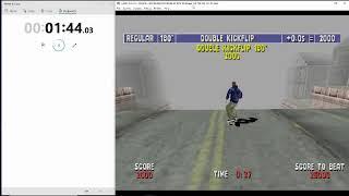 MTV Sports: Skateboarding Speedrun (Stunt Mode) (5:00) (Dreamcast Emulator)