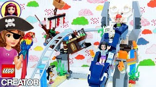 Lego Creator Pirate Roller Coaster Build with Talk like a Pirate Challenge Accepted!