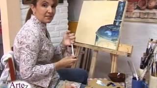 Repeat youtube video Los secretos de la pintura en acrilico con espátula y pincel (clase completa)