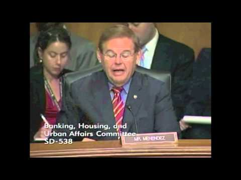 Senator Menendez's Q&A with Secretary Geithner at Banking Hearing