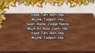 Yaad Teri Aati Hai Mujhe Tadpati Hai -Karaoke