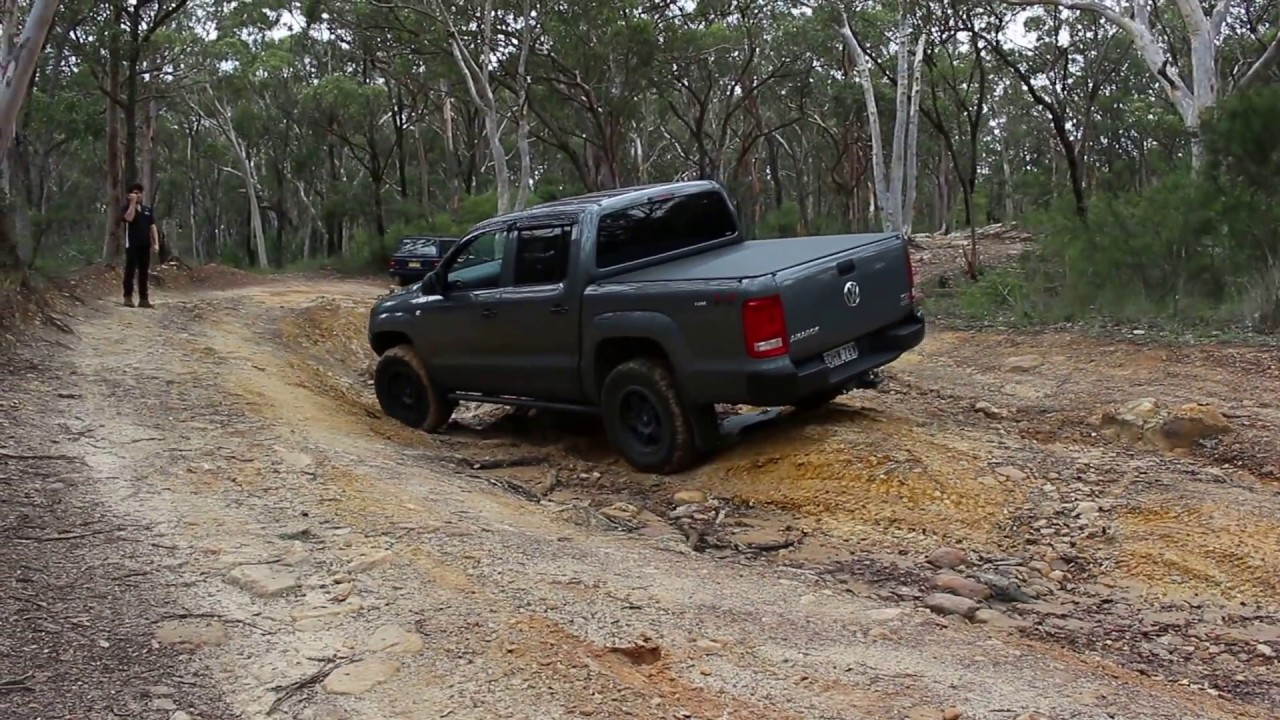 Testing out the Amarok's traction control system off road at Menai