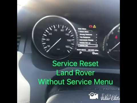 Easy Service Reset Land Rover Range Rover Evoque Youtube