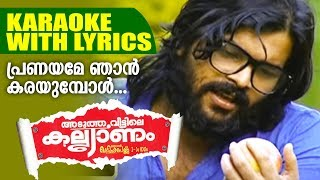 പ്രണയമേ ഞാൻ കരയുമ്പോൾ | Shafi Kollam Mappila Song Karaoke With Lyrics | Mappila Love Song Karaoke