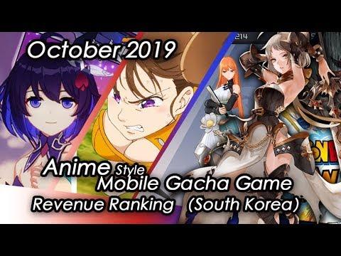(South Korea) October 2019 Anime Gacha Mobile Game Revenue Review#이차원대전