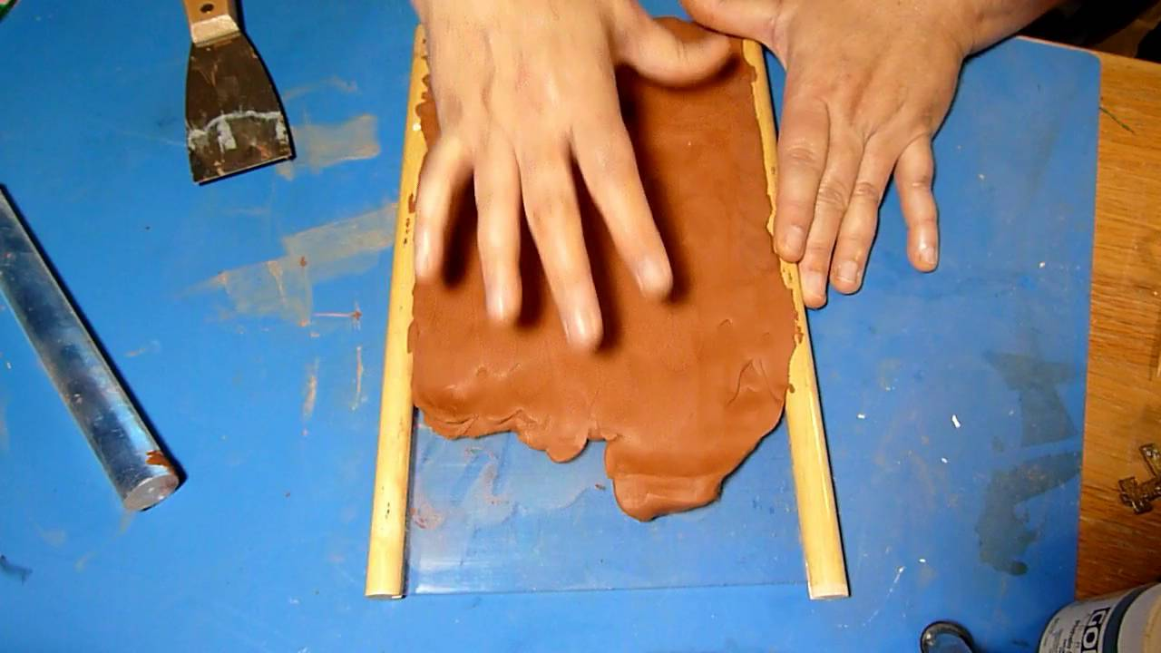 How to make bricks with Air Dry Clay - YouTube