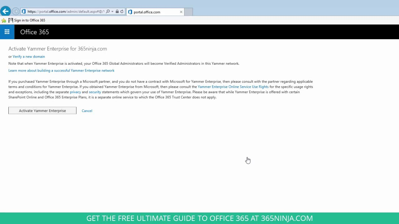 How to activate yammer for your office 365 tenant youtube - Activate yammer office 365 ...