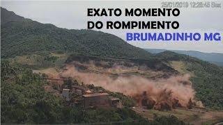 IMAGENS MOMENTO EXATO DO ROMPIMENTO DA BARRAGEM DE BRUMADINHO MG