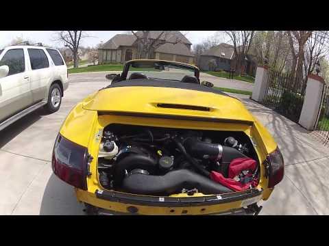 Supercharged Porsche Carrera 996 First Engine Start