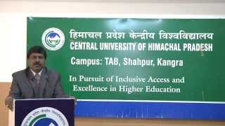 Lecture on RTI by Dr Rabindranath Manukonda, Central University of Himachal Pradesh