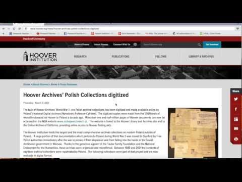 Searching the Online Polish Collections from the Hoover Institution Archives