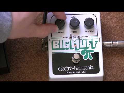 Electro Harmonix Big Muff Pi Tone Wicker Fuzz Pedal Demo