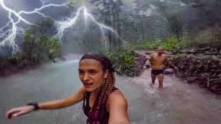 Caught in a St๐rm - Filming in water when this happened. Mayfield Falls. Jamaica Video Guide.