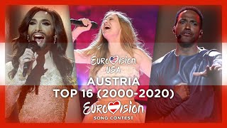 Austria in Eurovision - My Top 16 (2000-2020) (Including 2020)