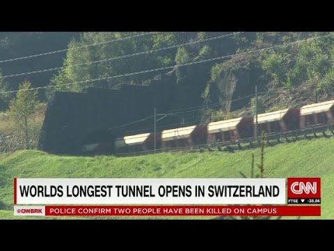 World's longest tunnel opens deep beneath Swiss Alps