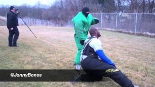 """Jon """"Bones"""" Jones behind-the-scenes police training"""