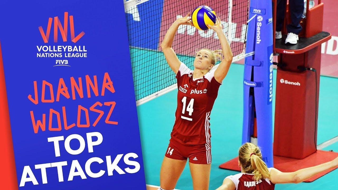 Joanna Wolosz's (Poland) top Attacks & Sets vs. Italy ...