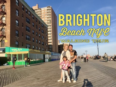 2017 Brighton Beach New York Walking Tour: Little Odessa Brighton Beach Avenue Brighton Bazaar