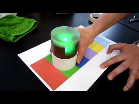 Color sensing paperweight