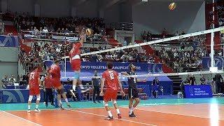 Волейбол. Нападающий удар. Сборная России и сборная Ирана