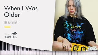 Billie Eilish - WHEN I WAS OLDER - Piano Instrumental Backing Track [Original Key] Video